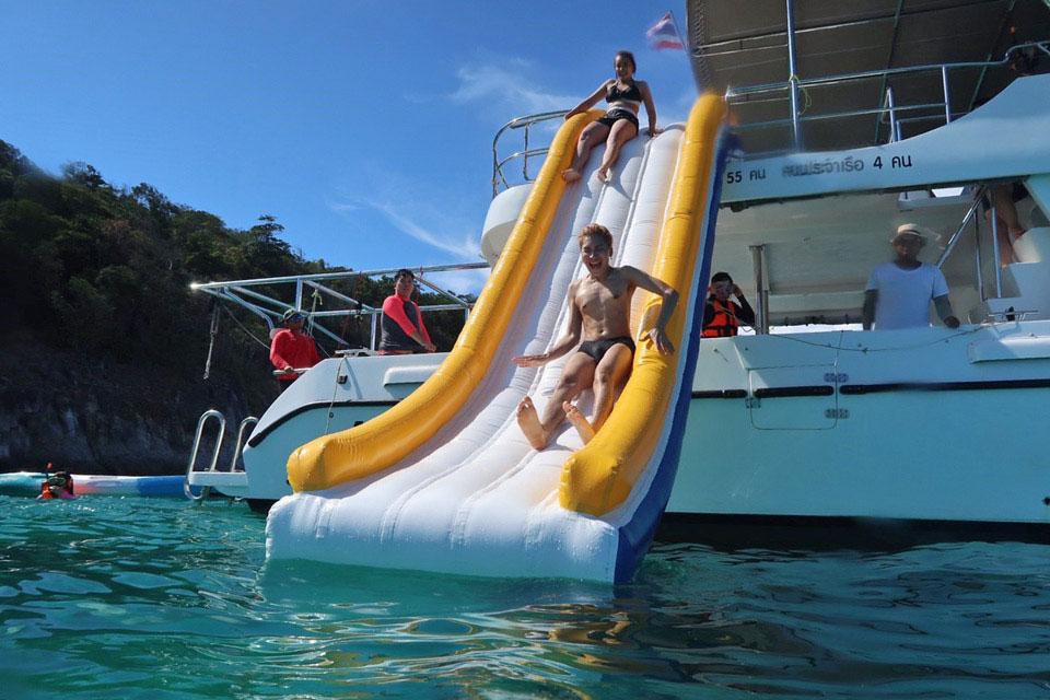 Yacht Charter Toys in Phuket: Water Slide